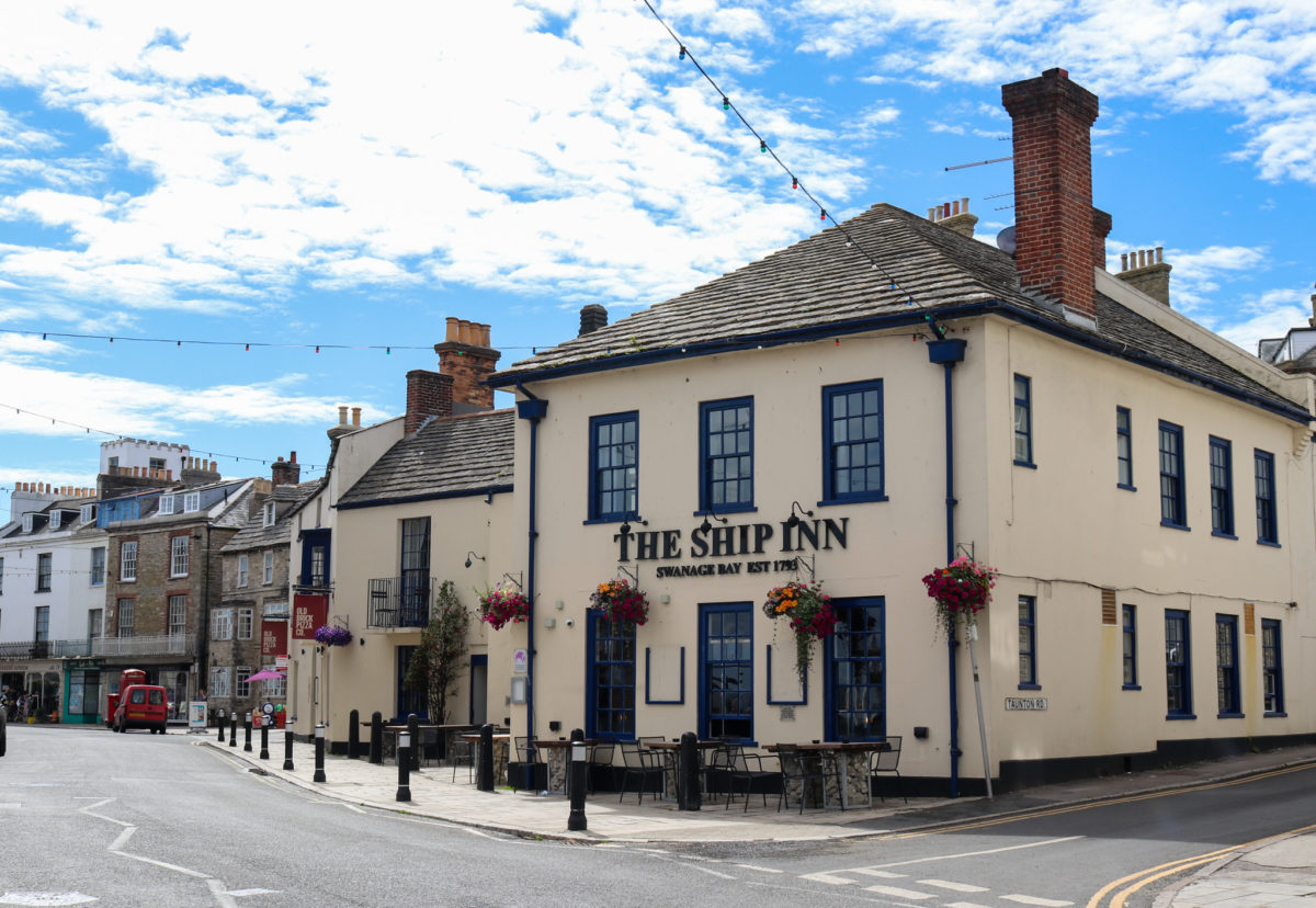 Outside of The Ship Inn in Swanage
