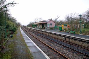 View across tracks to Harman's Cross station