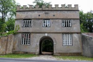 Castle gate on Lulworth Castle land