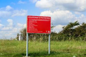 Safety information at the Lulworth Ranges car par