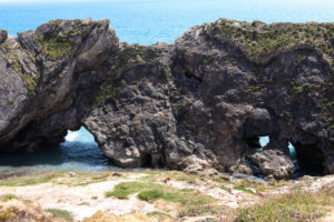 Lulworth stair hole blow holes