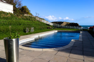 Outdoor swimming pool at Rudd's of Lulworth