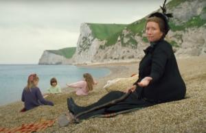 Emma Thompson as Nanny McPhee on Durdle Door beach
