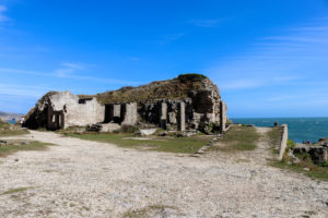 Remains of abandoned quarry building at Winspit