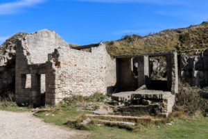 Abandoned and ruined building at Winspit