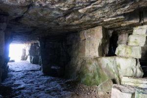 Passageway inside Winspit's quarry caves