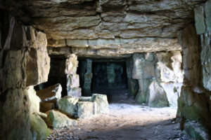 Inside the quarry caves of Winspit