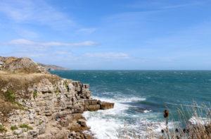 Sea and rocks at Winspit near Worth Matravers
