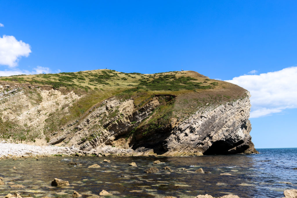 Rock formation at Pondfield Cove at Worbarrow Bay