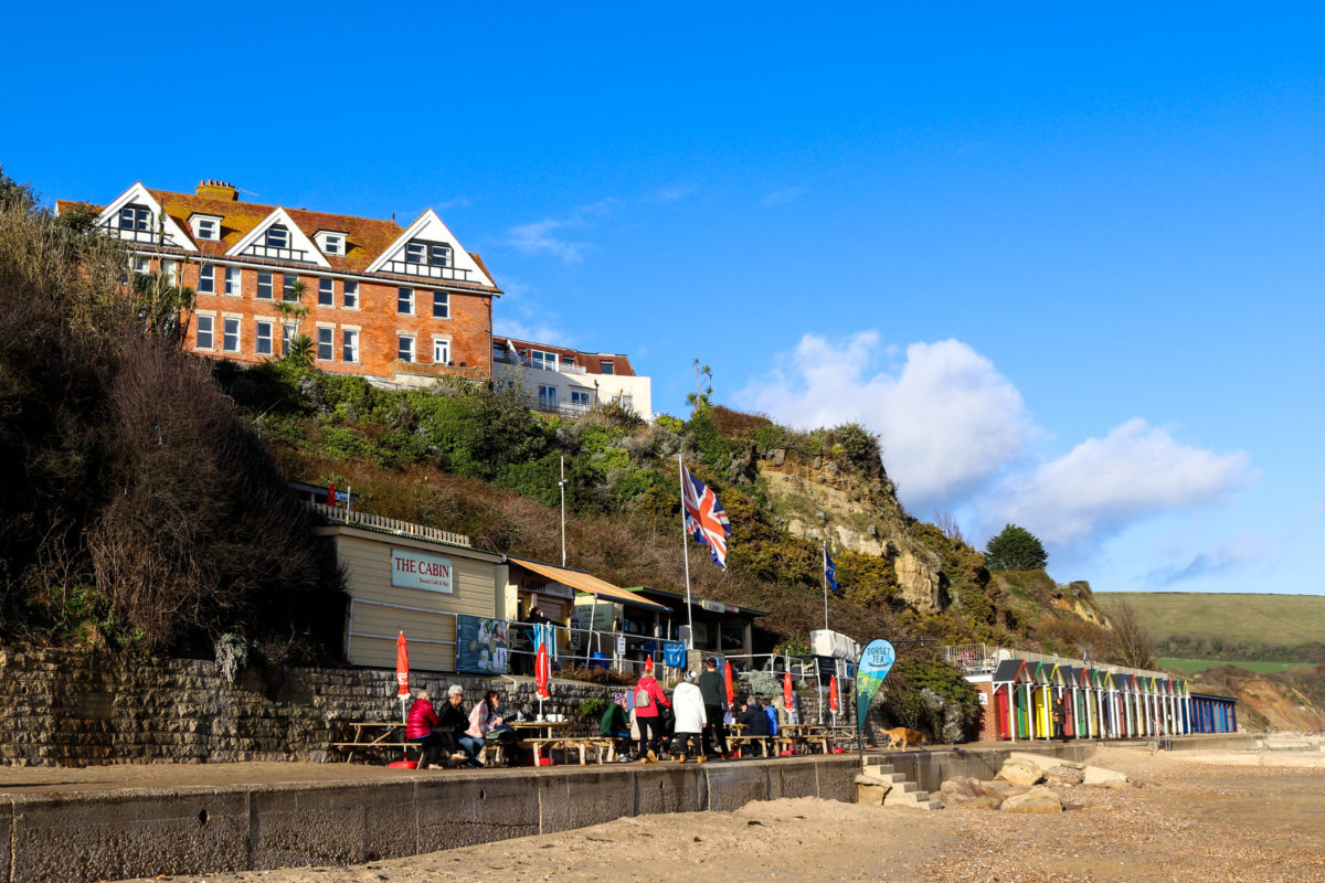 The Cabin café below the Grand Hotel in Swanage