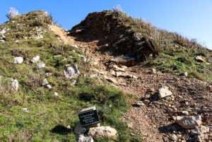 Help to reduce erosion sign near Durlston's Tilly Whim Caves