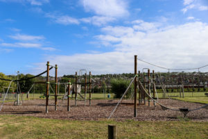 Playground equipment in King George's park in Swanage