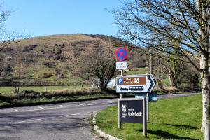 Parking signs for Corfe Castle