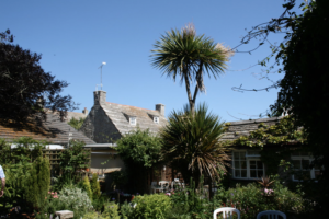 The garden of Worth Matravers Tea Room