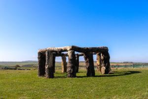 Replica Stonehenge known as Woodhenge in Worth Matravers