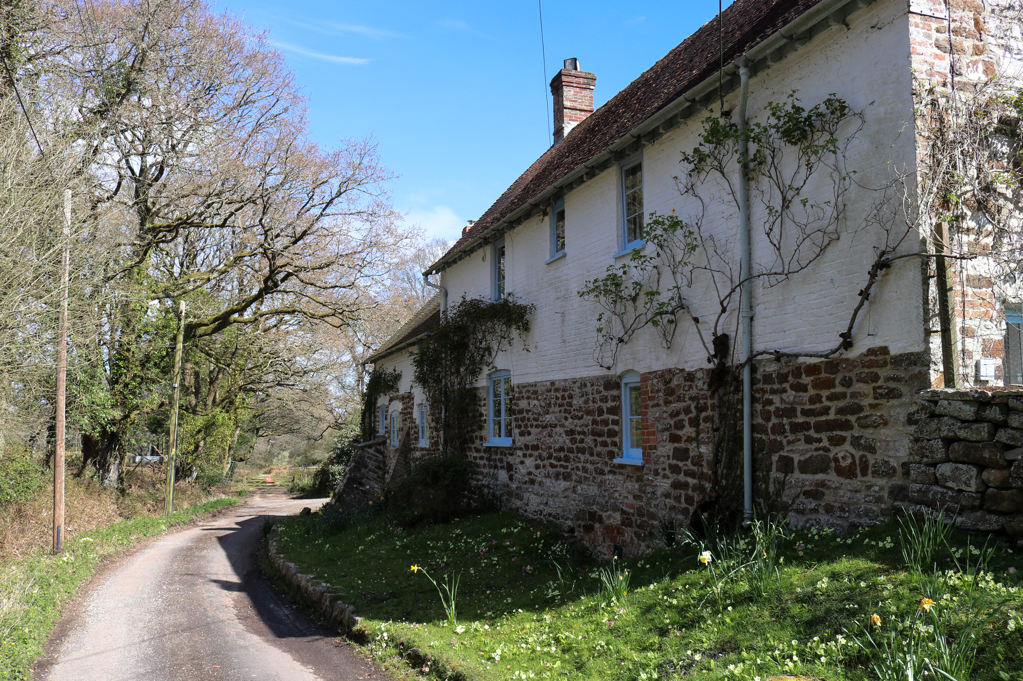 House toward the end of the main road in Arne village