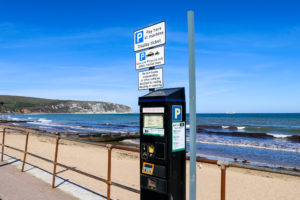 Pay-and-display machine on Swanage seafront