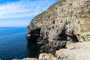 Sea caves from past quarrying activity at Dancing Ledge