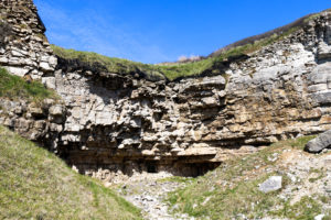 Old quarry cliffs at Dancing Ledge
