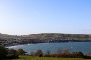 Swanage Bay and Purbeck Hills viewed from the Downs