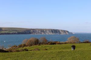 People on The Downs in Swanage