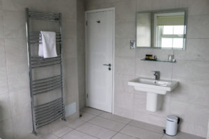 One of the en suite bathrooms of the Grand Hotel in Swanage