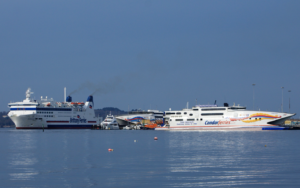 Two ferries serving Poole Port