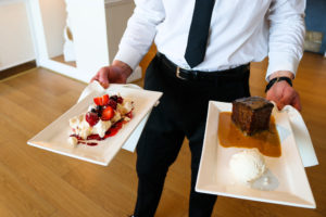 Swanage Grand Hotel's sticky toffee pudding and Eton Mess