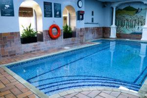 Plunge pool at the Burlington Club, Swanage