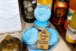 Jurassic Salt made in Worth Matravers for sale at the Tea Room