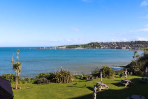 View across Swanage Bay to Peveril Point from the Grand Hotel, Swanage