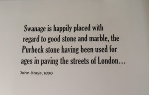 John Braye 1890 quote on Purbeck stone in Swanage