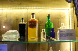 Old lab bottles and pipettes, Swanage Pier Trust
