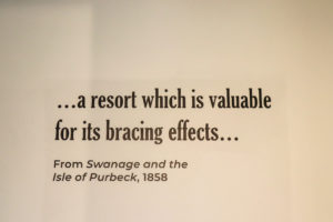 Victorian quote about Swanage on the Pier's café wall