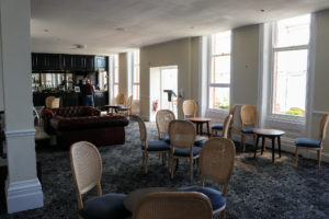Seating in the lounge of the Grand Hotel, Swanage