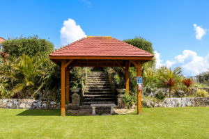 Ceremony pavilion in the garden of the Grand Hotel in Swanage