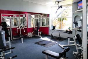 Gym equipment at the Burlington Club, Swanage