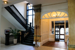 Entranceway and lobby of the Swanage Grand Hotel