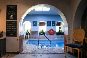 Arched entrance leading to plunge pool at Swanage's Burlington Health Club