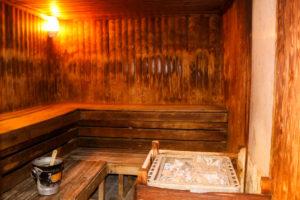 Inside the sauna of Swanage's Grand Hotel