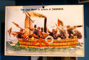 Vintage Swanage cartoon postcard
