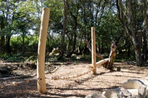 Natural play area in Durlston Country Park