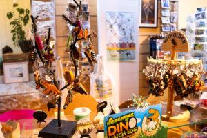 Wildlife wooden strings in Durlston Castle shop