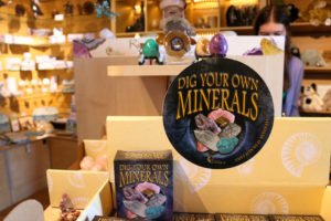 Dig Your Own Minerals in the Durlston Castle shop