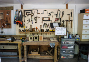Inside the workshop at The Shed, Durlston Country Park
