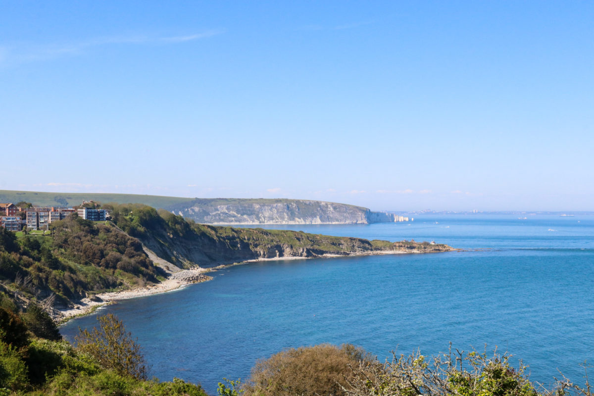 View over the sea from Seventhwave café, Durlston