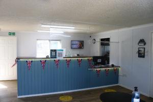 Welcome desk at Reception, Swanage Coastal Park