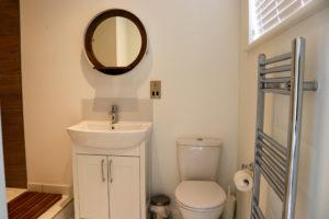 Modern en-suite bathroom in one of Swanage Coastal Park's holiday homes