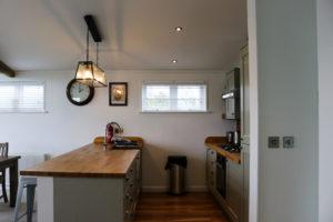 Swanage Coastal Park holiday home kitchen area