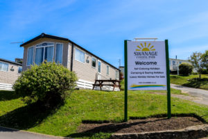 Welcome sign at the Swanage Coastal Park